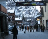 Central street of Courmayeur